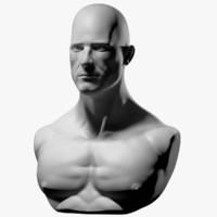 3d male bust model