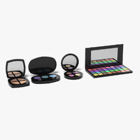 eye shadows set 3d 3ds
