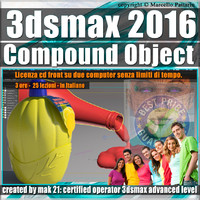 004 3ds max 2016 Compound Object 1 volume 4 Italiano_cd front