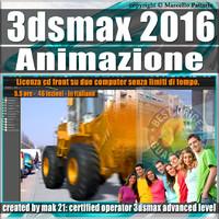 005 3ds max 2016 Animazione. volume 5.0 Italiano_cd front