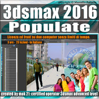001 3ds max 2016 Populate vol 1.0 CD Front