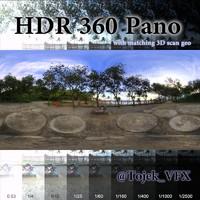HDR 360 Pano 3D scan Park Staue Ipanema