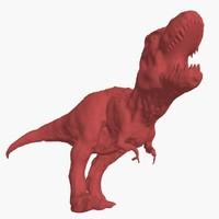 3d model t-rex - base