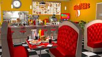 restaurant diner stylized ma