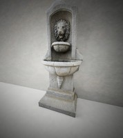 lion fountain 3d model