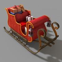 3ds santa sleigh