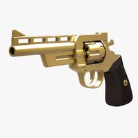 revolver golden 3d max