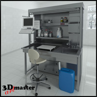 table laboratory equipment 3d max