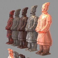 terracotta warrior 3d model