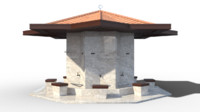 3d model of fountain shadirvan