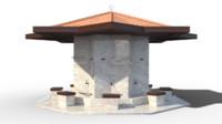 3d model of fountain shadirvan