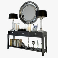 3d eichholtz military console table model
