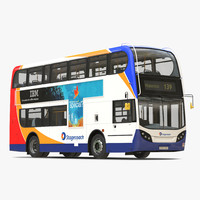 3d bus enviro400 simple interior