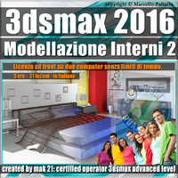 010 3ds max 2016 Modellazione Interni 2 v.10 cd front