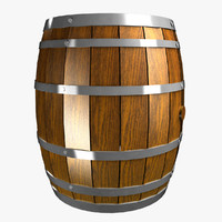 wine barrel 3d fbx