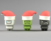 character christmas cartoons 3d model