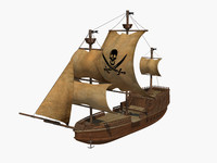 ship pirate 3d model