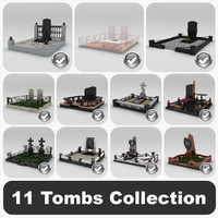 3d model 11 tombs
