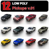 pickups trucks 3d model