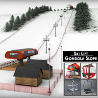 Ski slope lift gondola mountain large pack