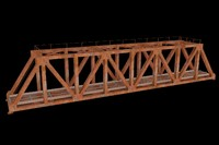 3d model railway bridge