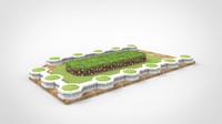 3d model grass garden