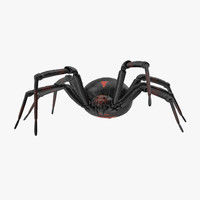 3d walking black widow
