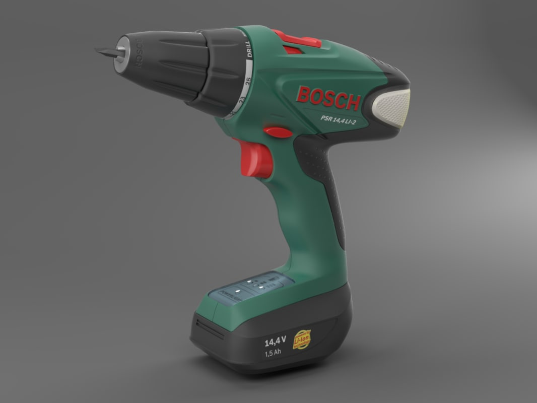 3d model of cordless drill screwdriver bosch. Black Bedroom Furniture Sets. Home Design Ideas