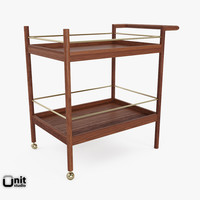 3ds max mid-century bar cart west