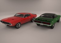 muscle car 3d obj