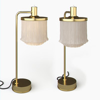 Hans Agne Jakobsson Brass and Silk Cord Table Lamp