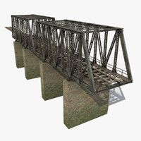 max modeled railway bridge