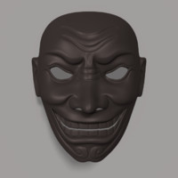 samurai mask 3d model
