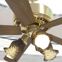 3d model of ceiling fan