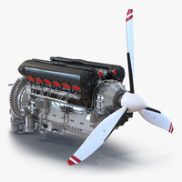 3dsmax piston aero engine 2