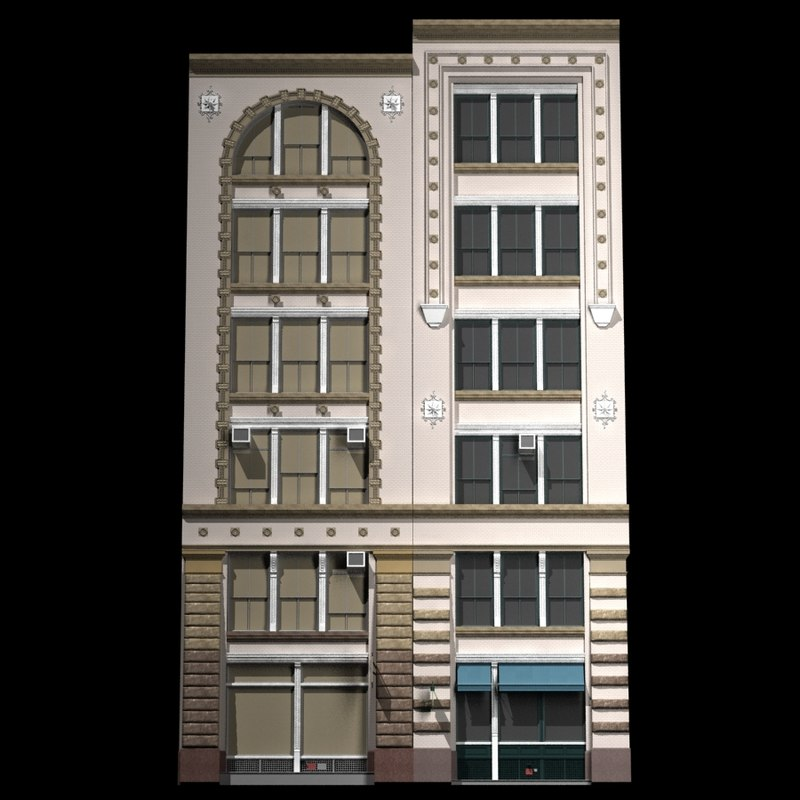 3d nyc historical building facade model for Model house nyc