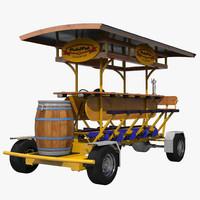 3d model pedal pub