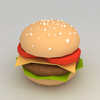 3d hamburger minimalistic model