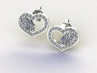 earrings diamond 3d model