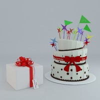 3d max birthday cake gift