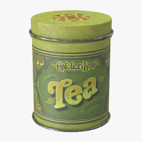 vintage kitchen tin tea 3d model