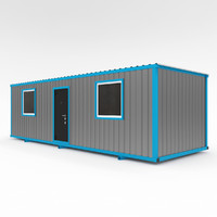 construction trailers 3d model