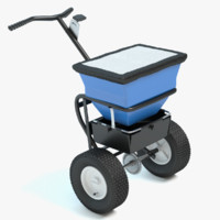 3d model winter salt spreader