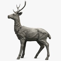 deer sculpture 2 3d model