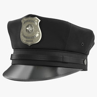 3d model special police hat