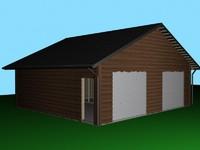 3dsmax draws houses