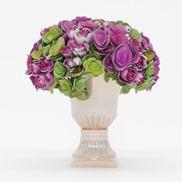 bouquet roses hydrangea flowers max