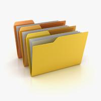 3d folder file model