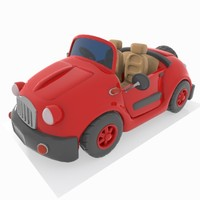 cartoon convertible car 3ds