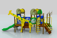 jungle playground 3d max